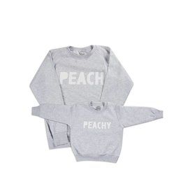Studio Mini-Me Peach + Peachy sweater set Mama+kind