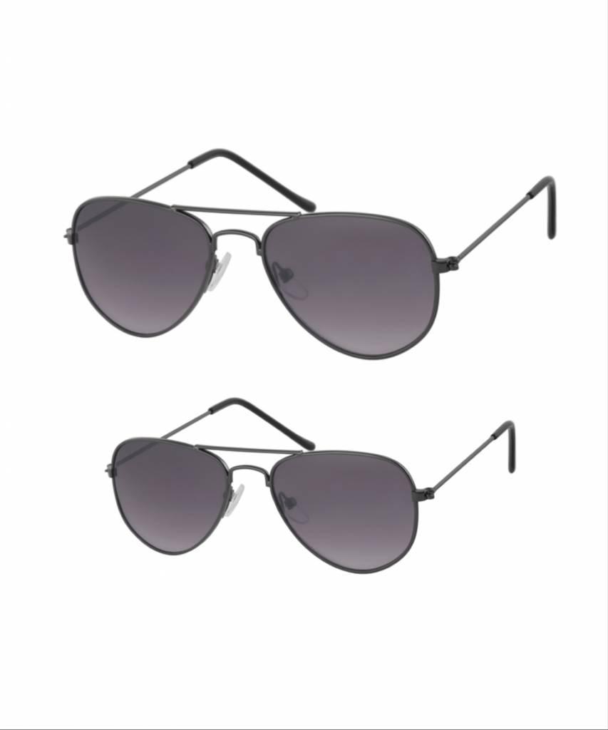 Studio Mini-Me Pilotenbrillen donker grijs moeder + kind