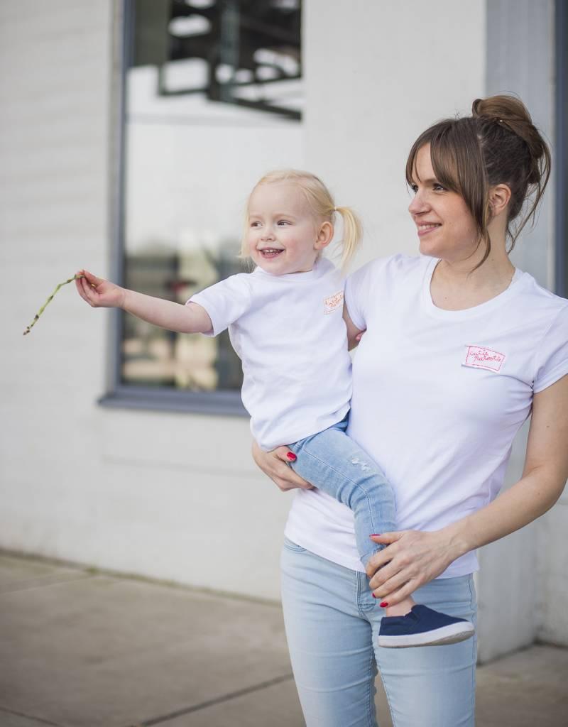 Studio Mini-Me Matching Cutiepatootie t-shirts voor moeder + baby-peuterMatching Cutiepatootie t-shirts voor moeder +baby/peuter
