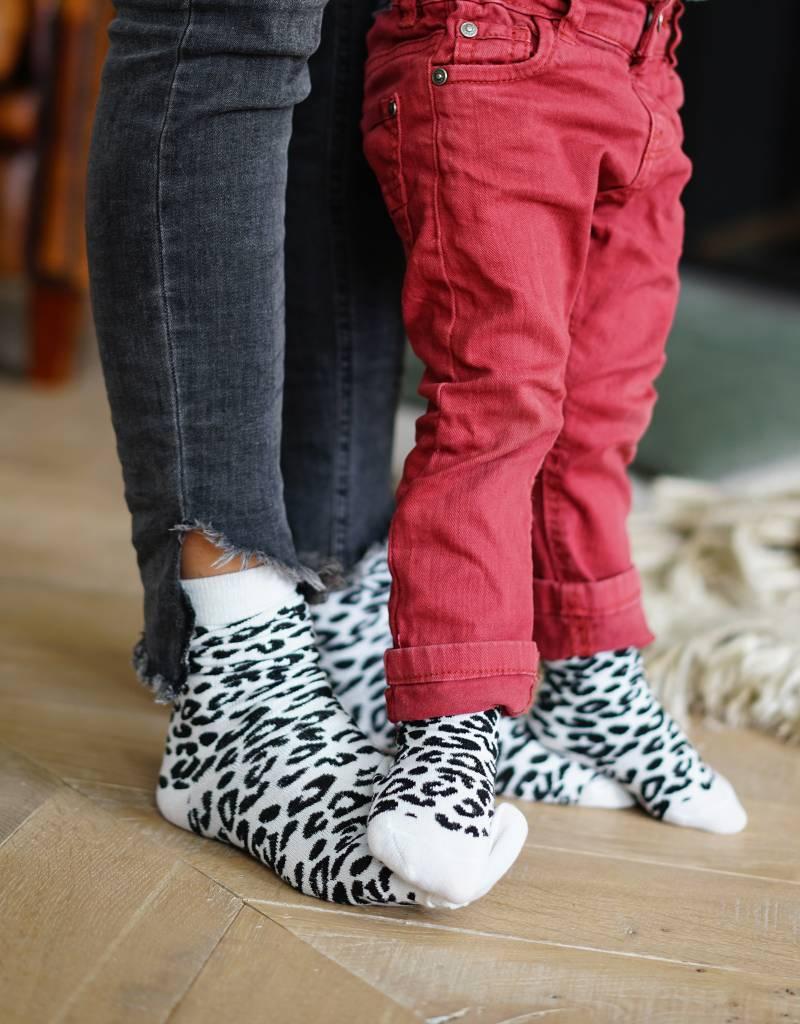 Studio Mini-Me Matchende sokken met panter print