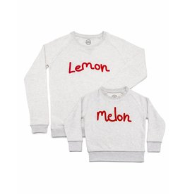 Studio Mini-Me Lemon + Melon sweaterset mama+kind
