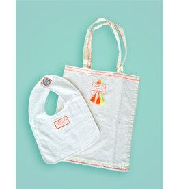 Studio Mini-Me Oranje Slabbetje + oranje shopper Cutiepatootie