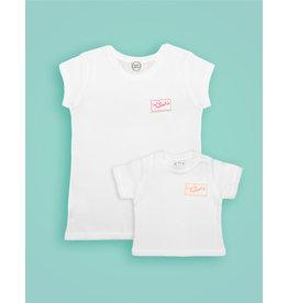 Studio Mini-Me Matching Cutiepatootie t-shirts voor moeder + baby/peuter