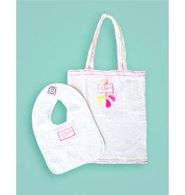 Studio Mini-Me Roze Slabbetje + Roze shopper Cutiepatootie