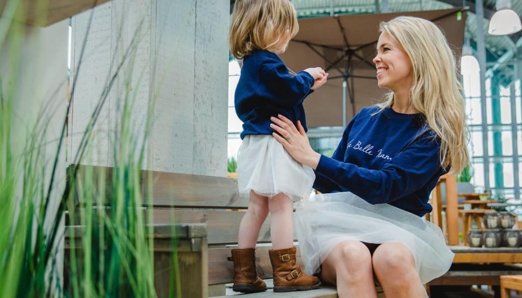Me and Mini-Me Sweater La Belle Mama vrouw