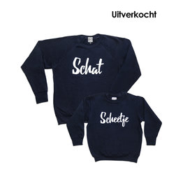 Studio Mini-Me Schat + Scheetje sweaterset mama+kind
