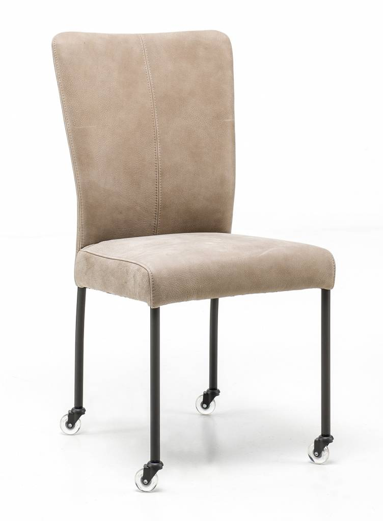 Chair in Leather Safari chair leg with wheel
