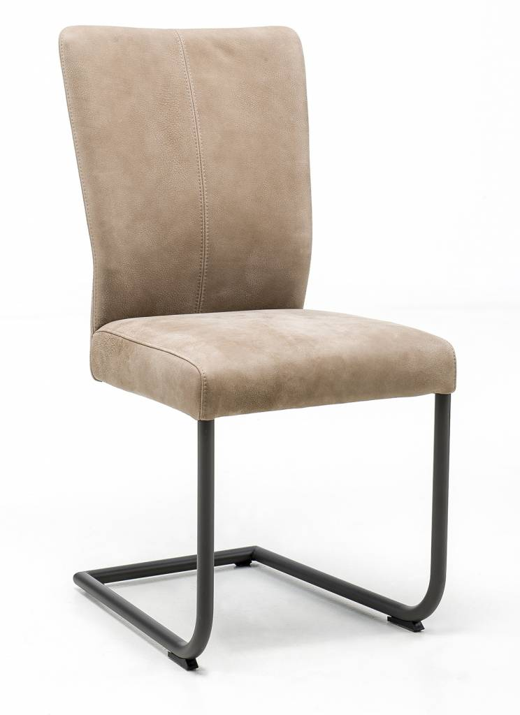 Chair in leather Safari with Swinger base