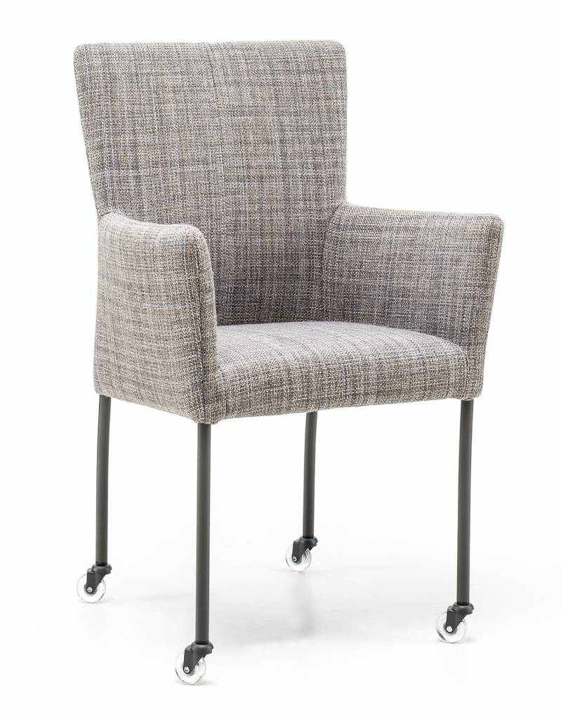 Armchair in fabric Gunnar chair leg with wheel