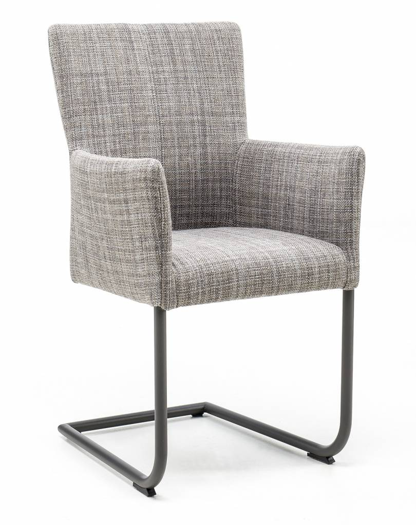 Armchair in fabric Gunnar with Swinger base