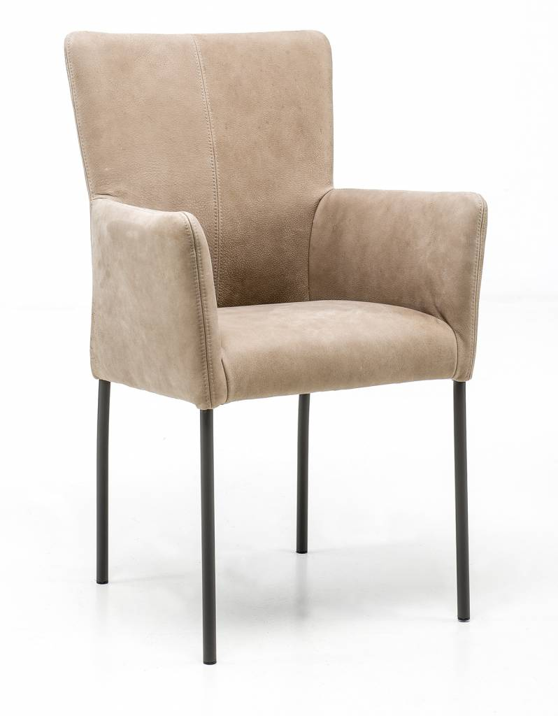 Armchair in Leather Safari chair leg without wheel