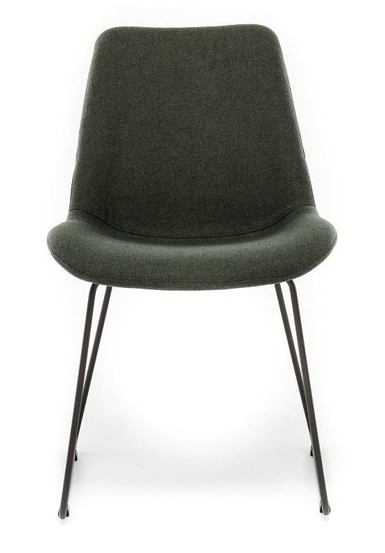 Chair in Fabric ST Moritz Foresta with Sled leg
