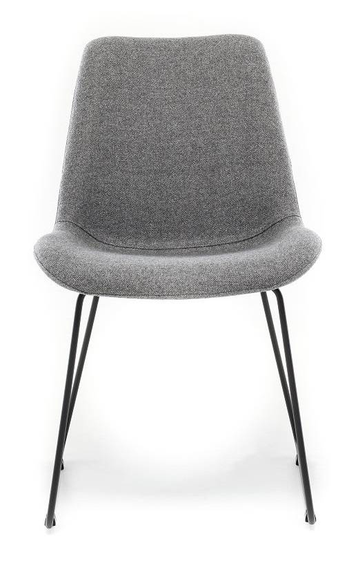 Chair in Fabric ST Moritz Roccia with Sled leg
