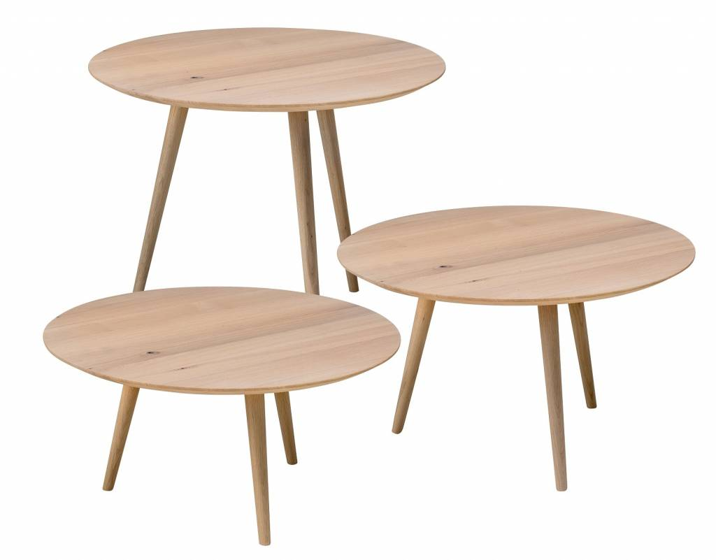 Coffee table round D70cm in 3 different heights