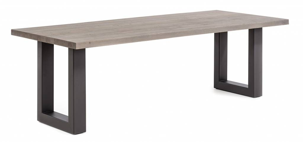 Dining table - with Metal U-leg