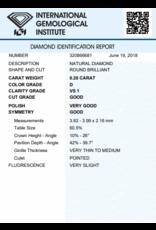 IGI Brilliant - 0,20 ct - D - VS1 G/VG/G Very slight