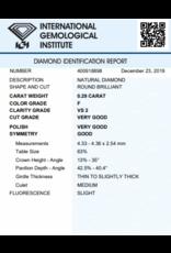 IGI Brilliant - 0,29 ct - F - VS2 VG/VG/G Slight