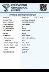 IGI Brillante - 0,30 ct - G - VVS1 VG/G/VG Slight