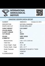 IGI Brilliant - 0,32 ct - G - SI1 G/VG/G None