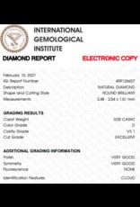 IGI Briljant - 0,05 ct - D - VS1 Exc/VG/VG None