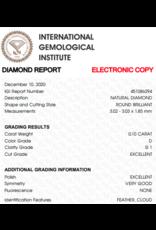 IGI Brilliant - 0,10 ct - D - SI1 Exc/Exc/VG None