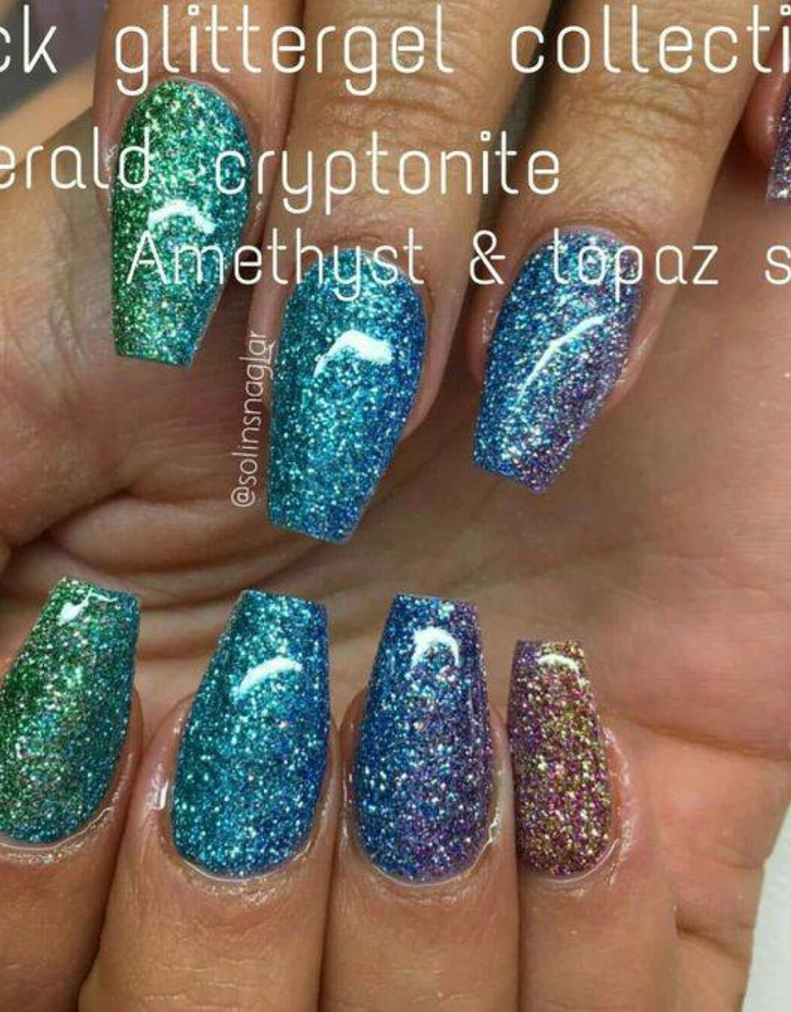 Gel Rock Glitter Emerald