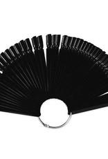 Display voorbeeld tips aan ring extra groot 50tips Zwart