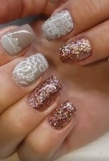 Gel Rock Glitter Topaz Satin