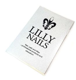 Lilly Nails Notebook in silver-glitter