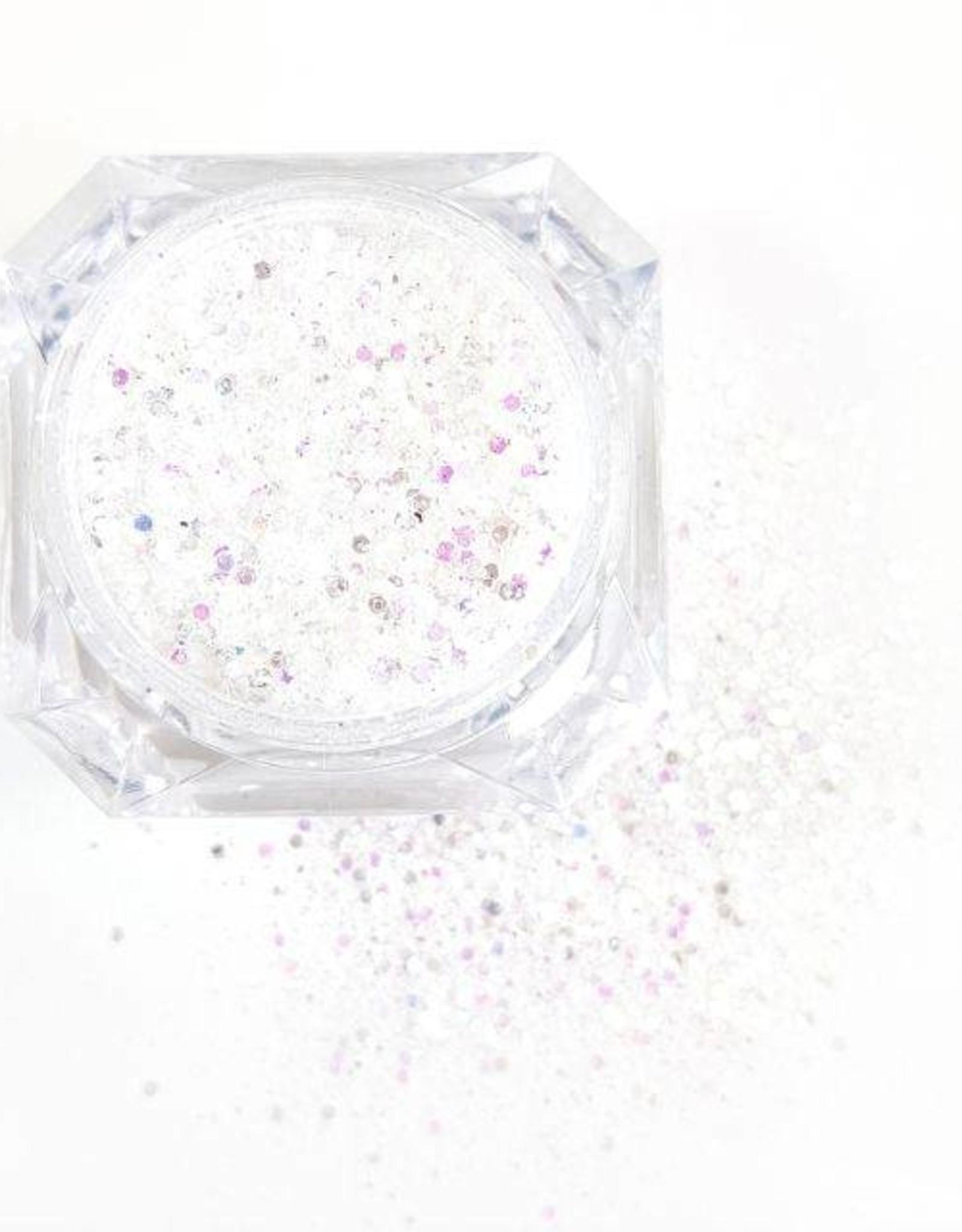 Glittermix  Solin White