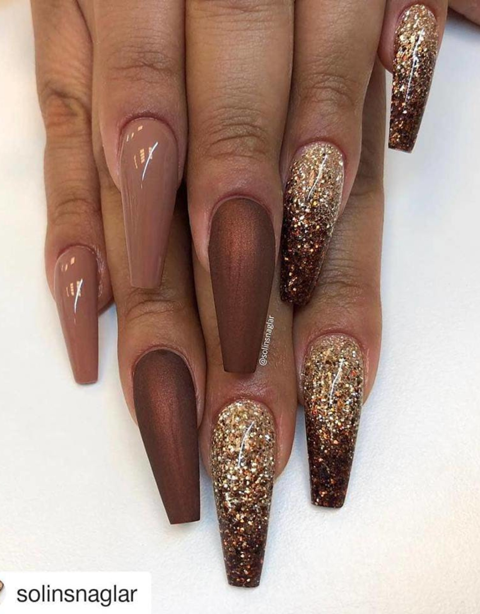 Glittermix Solin Brown