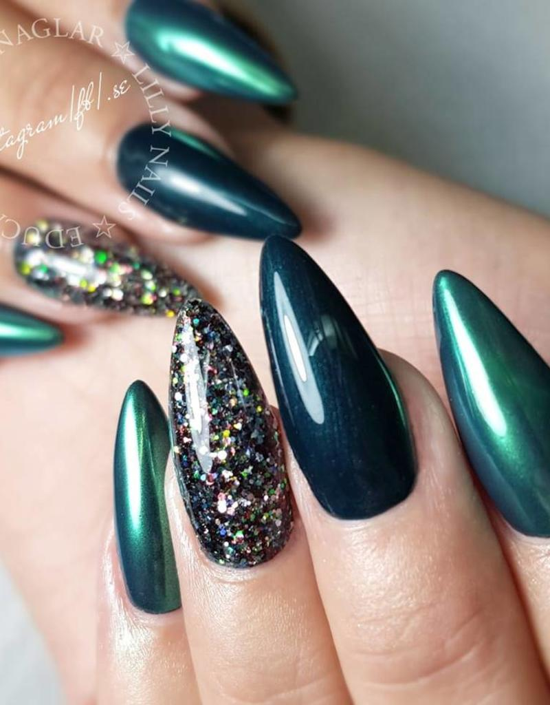 Nailart Chrome Petrol