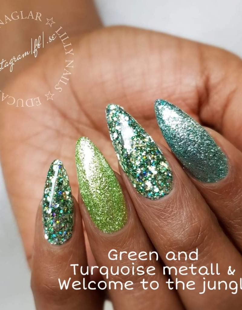 Glitter Gel Metallic Green