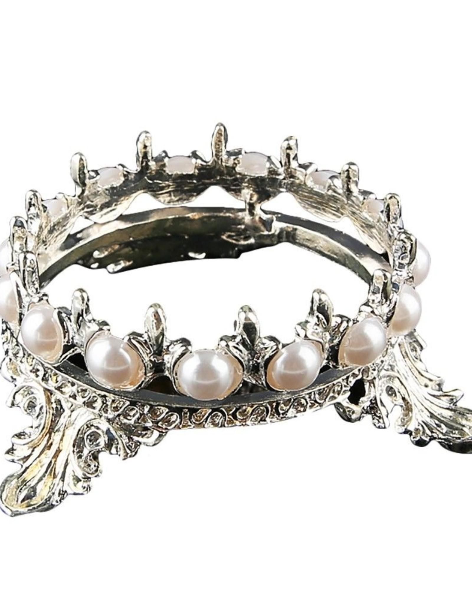 penseelhouder in Kroonvorm, zilver