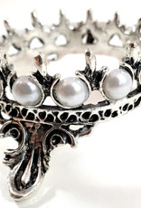 Brush Holder Crown, silver