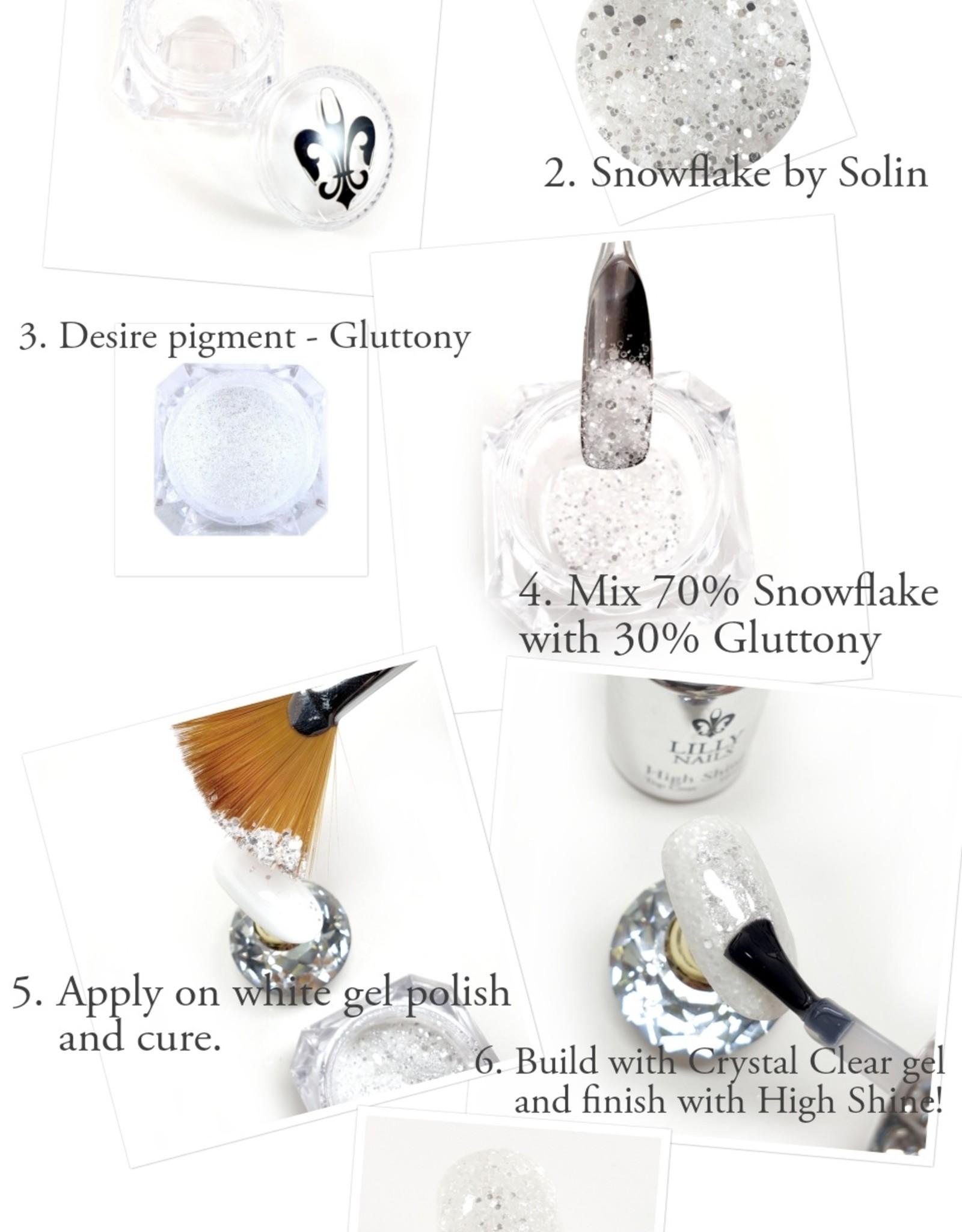 Opbergen,  6 Diamond Lilly Nails jars