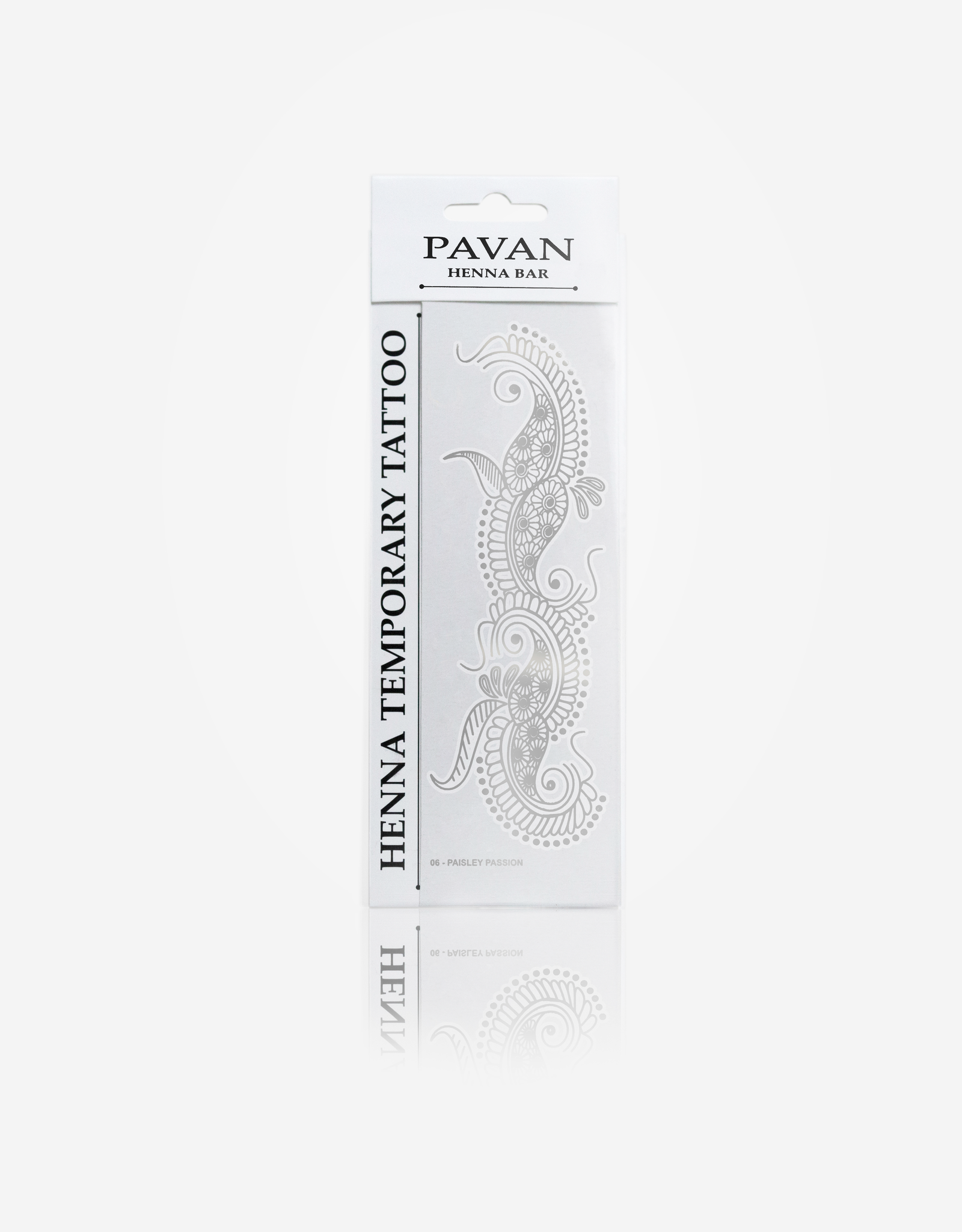 Pavan Henna | Temporary Tattoo |Paisley Passion Silver 06