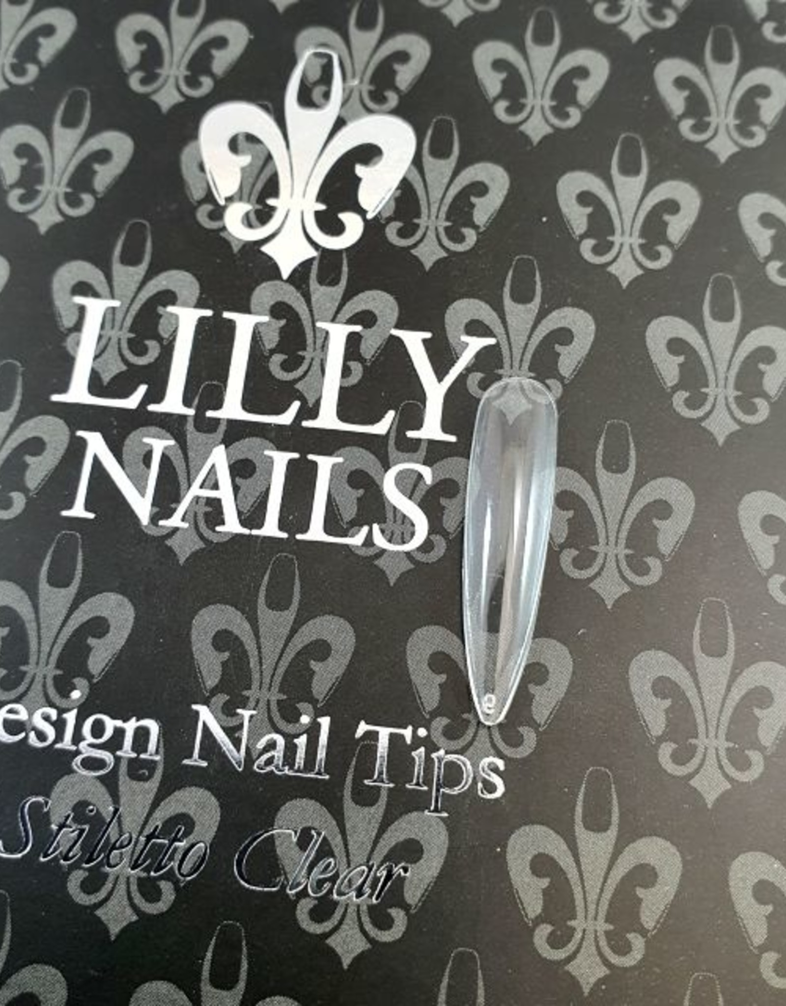 Lilly Nails Stiletto Tip Clear 500-pack
