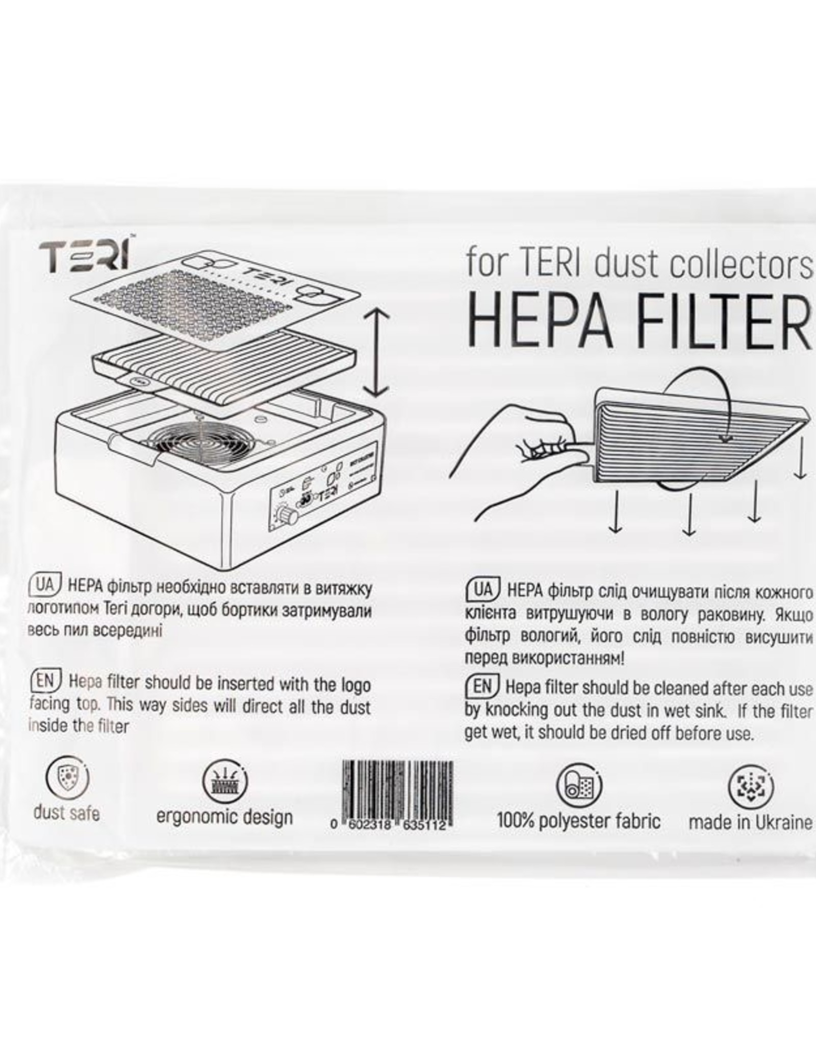 Filter Hepa Teri Turbo built-in