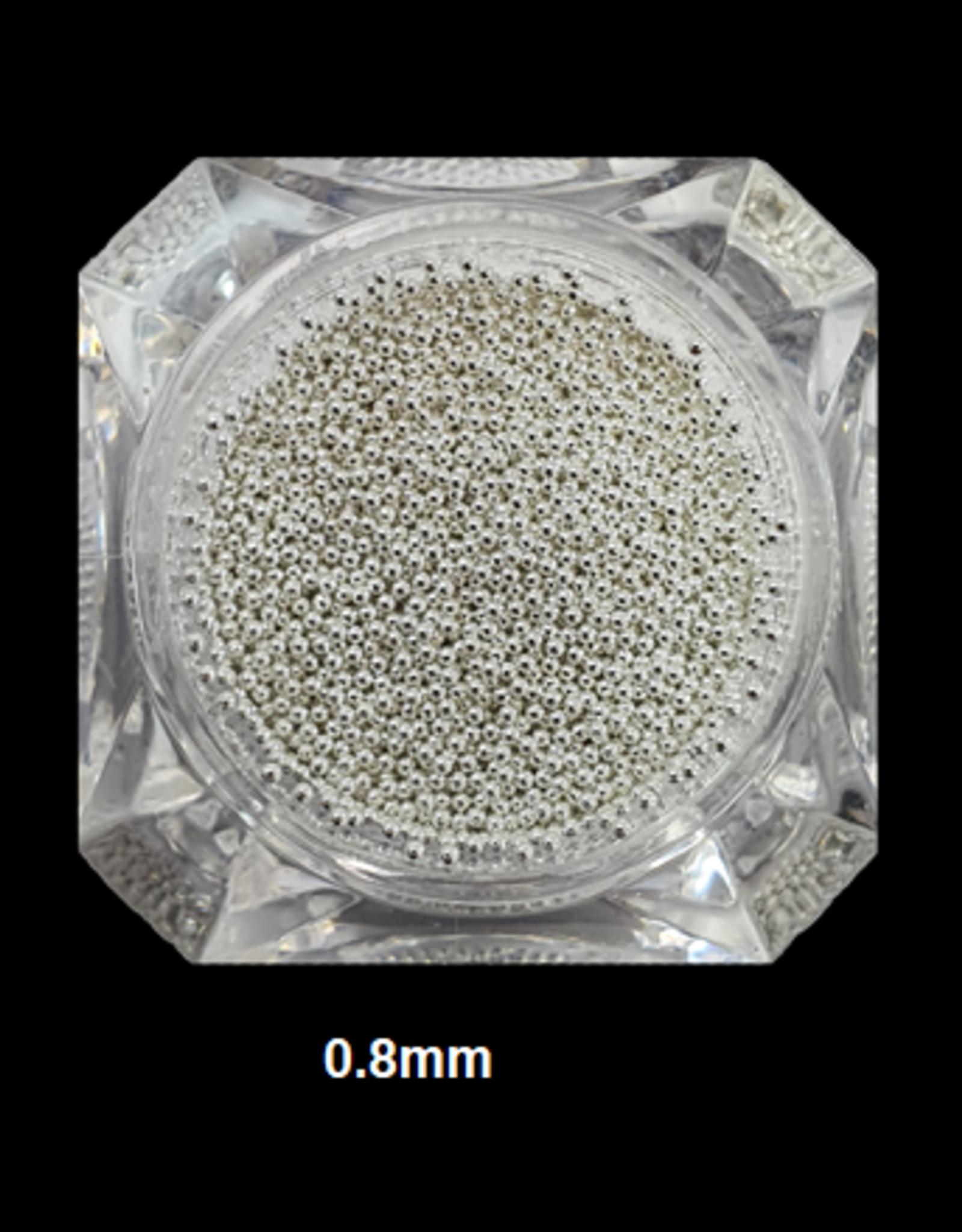 Nailart beads / caviar Silver