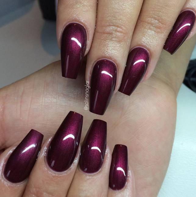 lilly nails black cherry