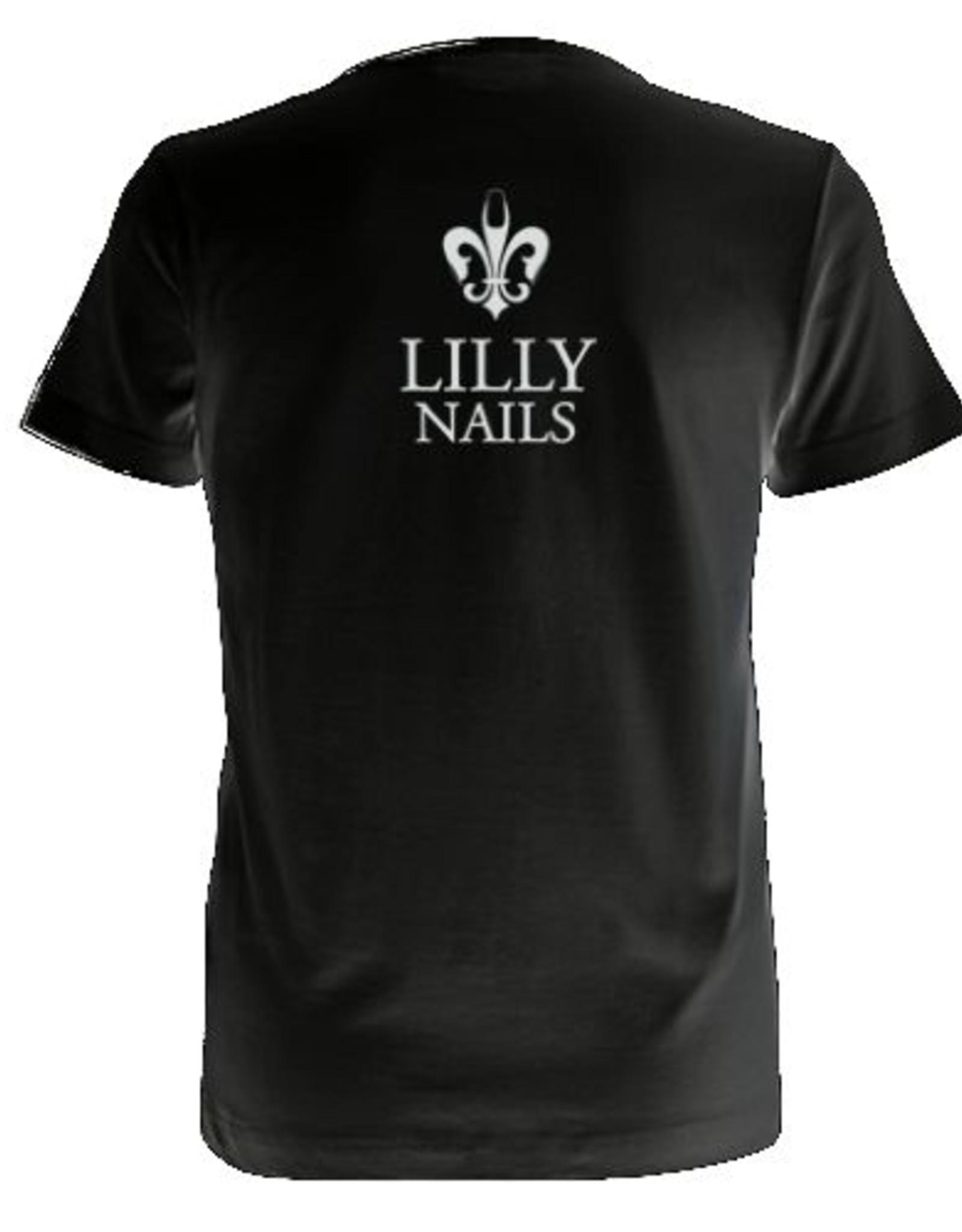 Lilly Nails T-Shirt Zwart