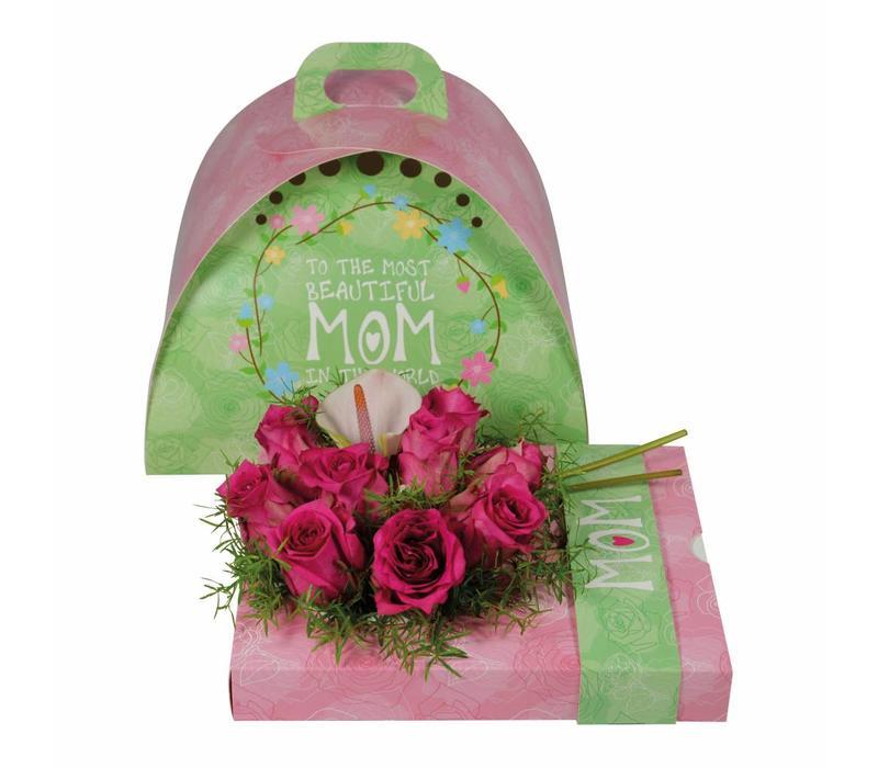 """OASIS® floxi Geschenkverpackung """"mom"""" ohne Blumendeko"""
