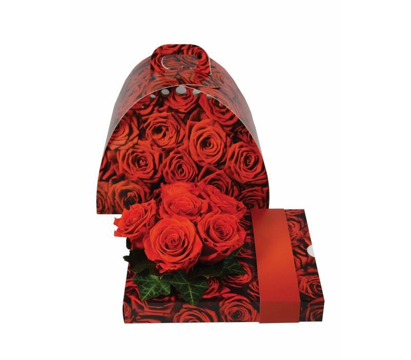 """OASIS® floxi Geschenkverpackung """"Rosen"""" ohne Blumendeko"""