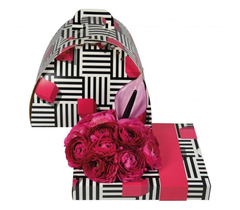 """OASIS® floxi Geschenkverpackung """"unifarben pink"""" ohne Blumendeko"""