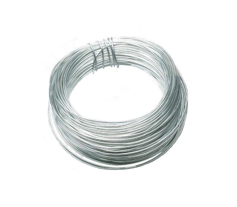Draht aus Aluminium, 12 m x 2 mm Ø, Silber