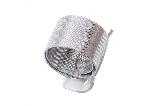 Wrap wristlet Armband, 2,5 x 23 cm, Silber