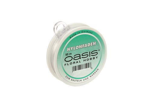 OASIS® Nylonfaden, transparent, Fadenstärke 0,15 mm, 50m, 1 Rolle
