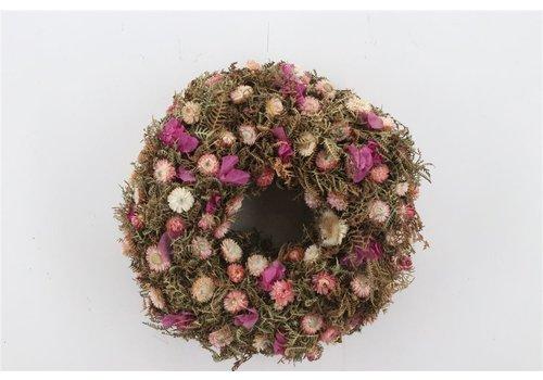 Dekokranz  in Natur/Rosa