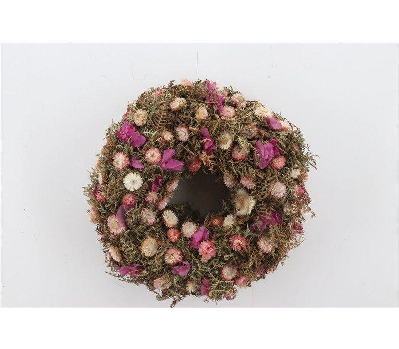 Dekokranz  in Natur/Rosa ca. 40cm Durchmesser